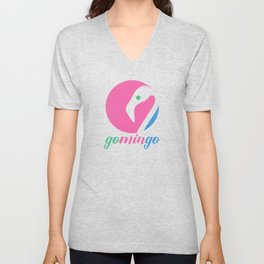 Gomingo Circle Logo Unisex V-Neck