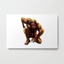 The Armored Titan Metal Print