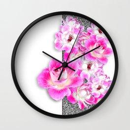 JC FLOWER LEI 2 Wall Clock