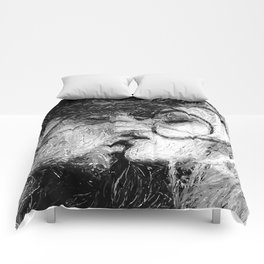 Abstract Ink Kiss Comforters