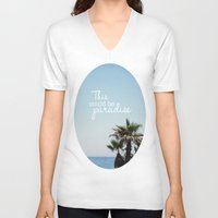 palms V-neck T-shirts featuring Palms by hayleyhigson