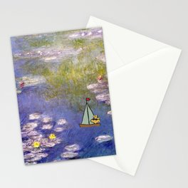 Snoopy meets Monet Stationery Cards