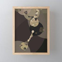 tara - dark abstract of tan chestnut brown taupe yellow beige Framed Mini Art Print