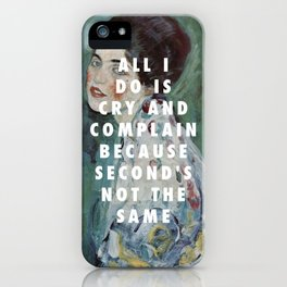 Gustav Klimt, Porträt einer Dame (1916-1917) / Halsey, Is There Somewhere (2014) iPhone Case