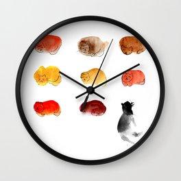 Watercolor cats Wall Clock