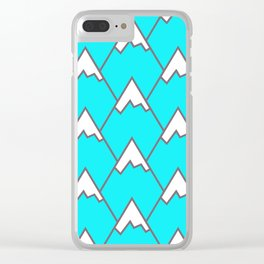 Mountain Peaks Clear iPhone Case
