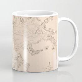 Vintage Map Print - Admiralty Chart No 2524 New Zealand North Island -- West Coast, 1857 Coffee Mug