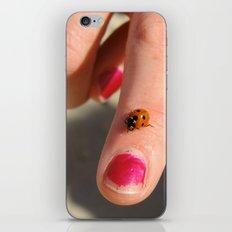 Ladybug On A Lady's Finger iPhone & iPod Skin
