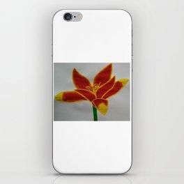 Handmade drawing of flower iPhone Skin