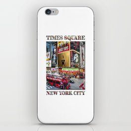 Times Square II (widescreen poster on white) iPhone Skin