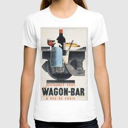 Vintage poster - Wagon-Bar T-shirt