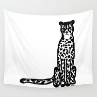 cheetah Wall Tapestries featuring Cheetah by Helena's universe