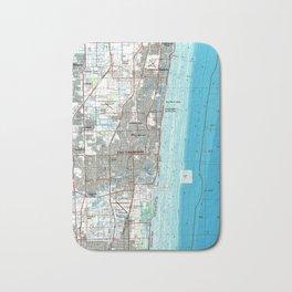 Fort Lauderdale Florida Map (1985) Bath Mat
