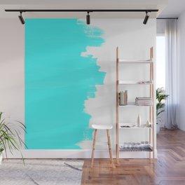 Shiny Turquoise balance Wall Mural