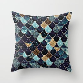 REALLY MERMAID - MYSTIC BLUE Throw Pillow