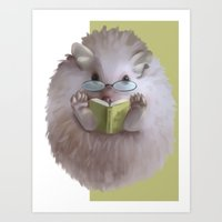hedgehog Art Prints featuring Hedgehog by Elena Naylor