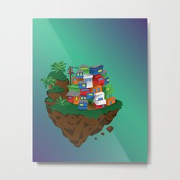 Floating Favela Metal Print