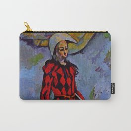 """Paul Cezanne """"Harlequin"""" (1889) Carry-All Pouch"""