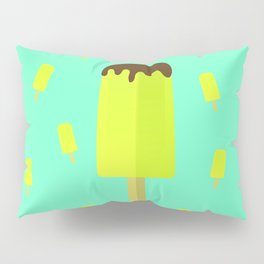 Summer time ice cream popsicle Pillow Sham