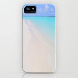 beach (Maldives White Sand Beach) iPhone Case