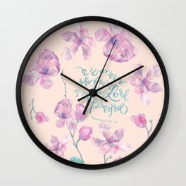 A Woman to be Praised - Proverbs 31:30 - For Mothers Wall Clock