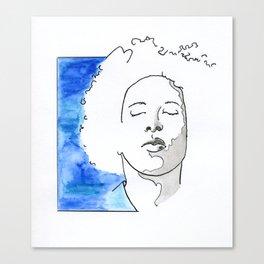 Boy in blue Canvas Print