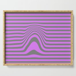 distorted stripes Serving Tray