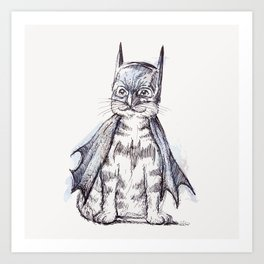 Bat Cat Art Print