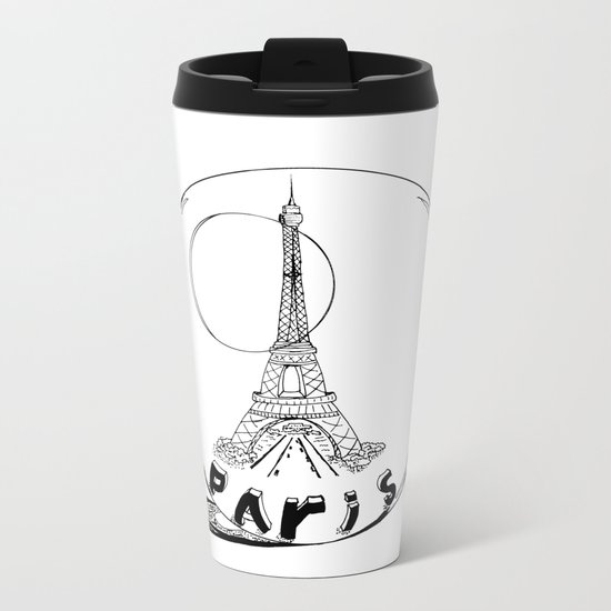 paris in a glass ball Metal Travel Mug
