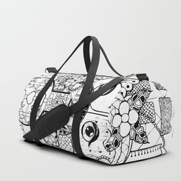 Random doodle fantasy Duffle Bag