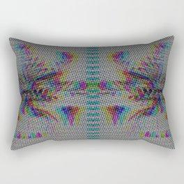 Botanical Flower Glitch II Rectangular Pillow