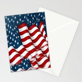 "ORIGINAL  AMERICANA FLAG ART ""STARS N' BARS"" PATTERNS Stationery Cards"