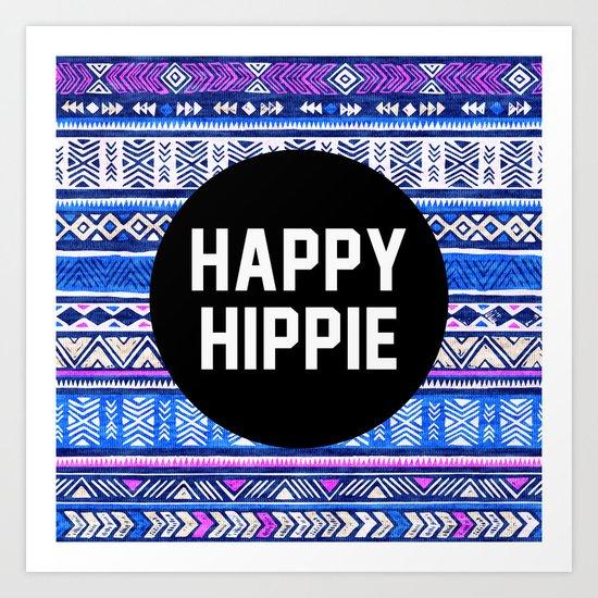 Happy hippie Art Print