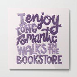 Book Nerd - Romantic Bookstore Purple Metal Print