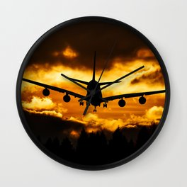 plane departure Wall Clock