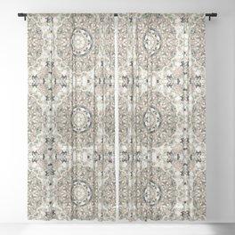 Flower mandala, tapestry, carpet, rustic Sheer Curtain