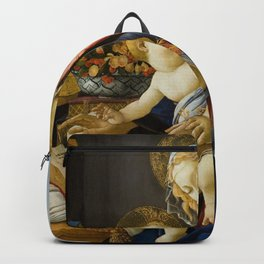 The Virgin and Child by Sandro Botticelli Backpack