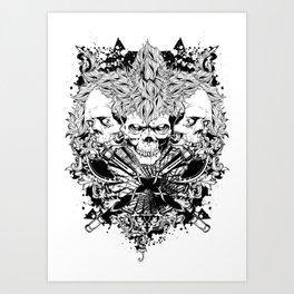 Warrior trinity Art Print