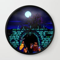 castlevania Wall Clocks featuring Dark Castle by VGPrints