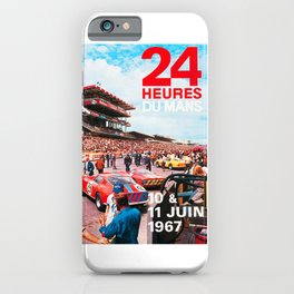 24hs Le Mans 1967, vintage poster iPhone Case
