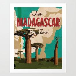 Madagascar Vintage Travel Poster Kunstdrucke