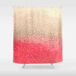 GOLD CORAL Shower Curtain