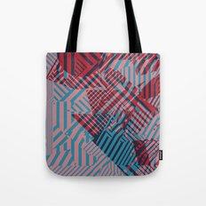 Dazzle Camo #02 - Blue & Red Tote Bag