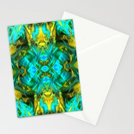 Mint and gold. Stationery Cards
