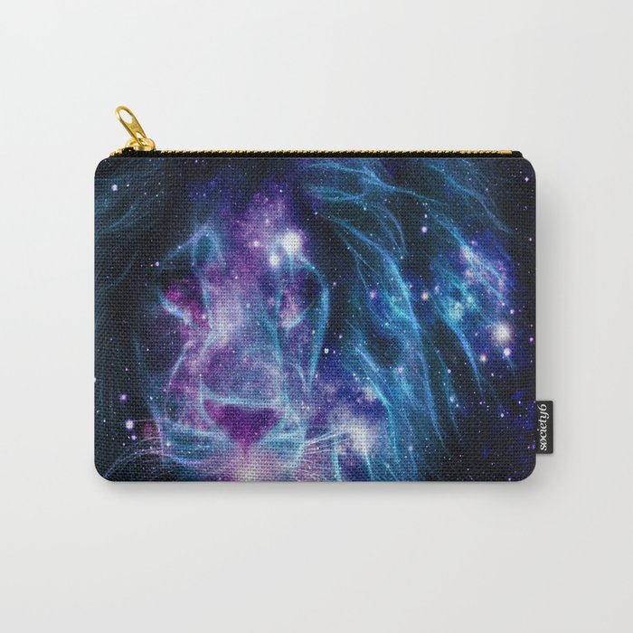 Leo Galaxy Lion : Purple Blue Carry-All Pouch