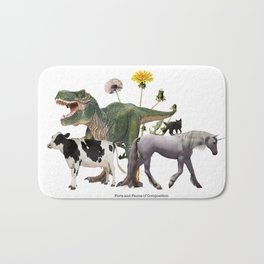 For Belly Dance Students: The Flora and Fauna of Composition Bath Mat