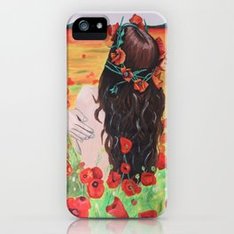 Poppies's girl iPhone Case