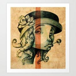 Lady Tentacles Art Print