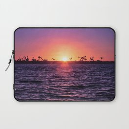 Mission Bay Palm Tree Sunset in San Diego, California Laptop Sleeve