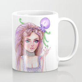 Liliana Octopus Girl Fantasy Surreal Art Coffee Mug
